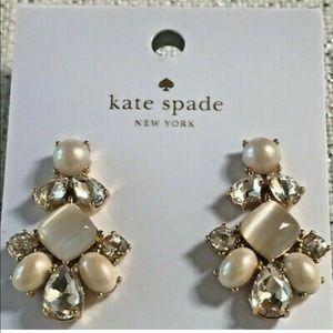 Kate Spade Pearl Chandelier Statement Earrings